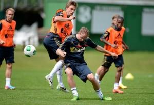 Veltman en De Jong in duel
